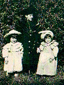Annie Spencer with Stanley and Gilbert