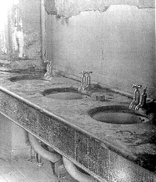 Beaufort washbasins awaiting renovation